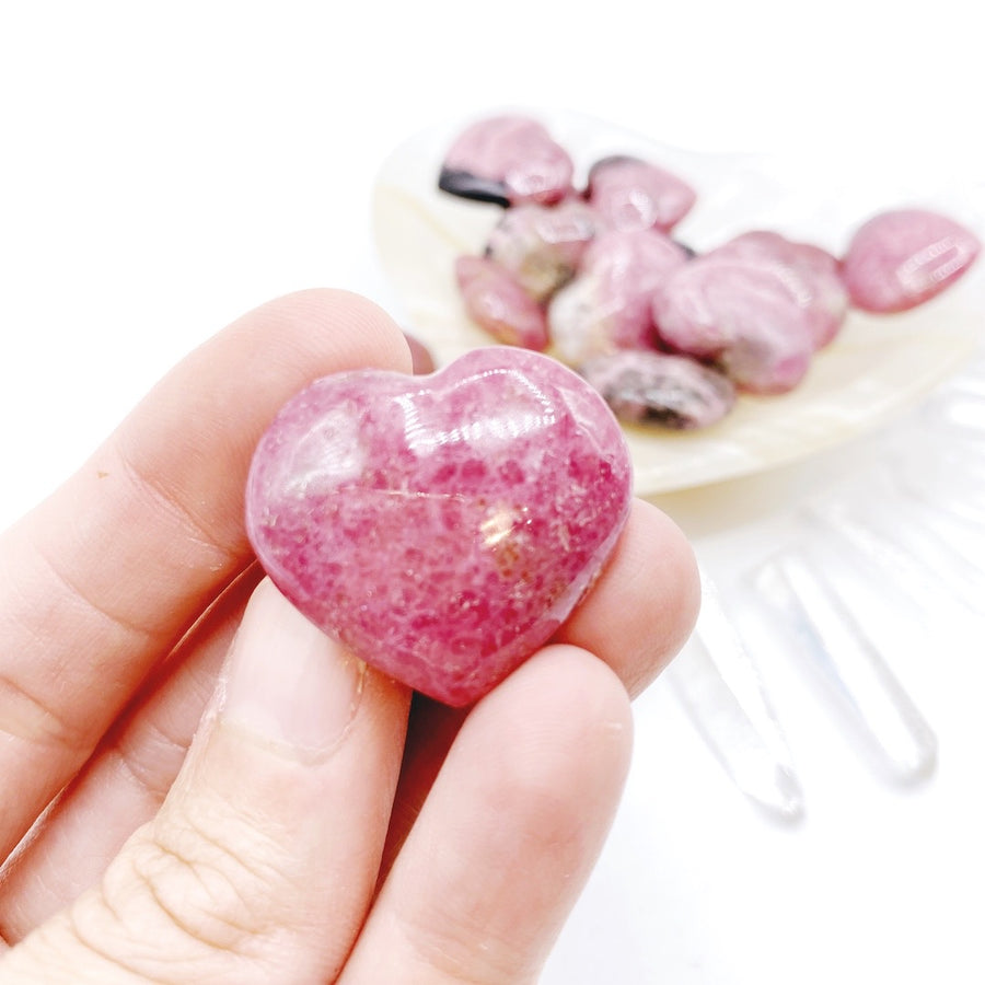 Rhodonite Mini Hearts