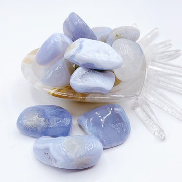 Blue Lace Agate Tumbled Stones