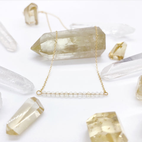 Citrine Bar Choker