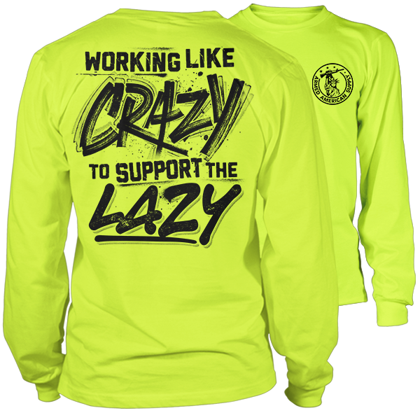 Crazy - Long Sleeve Hi-Vis T-Shirt