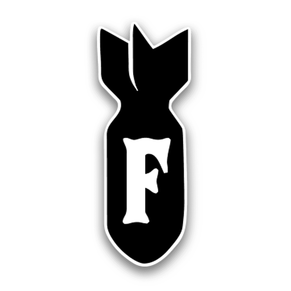 F Bomb Hard Hat Decal Armed American Supply