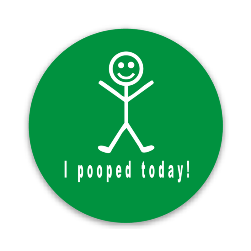 I Pooped Today Hard Hat Decal