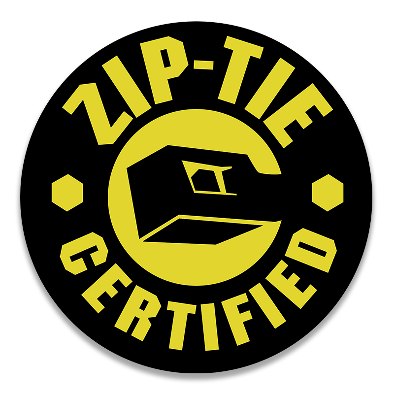 Zip Tie Hard Hat Decal