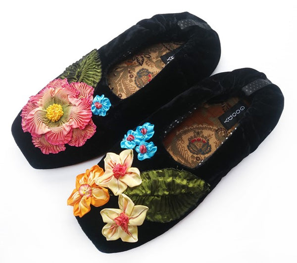 GOODY GOODY SLIPPERS: MILLEFLEUR BLACK