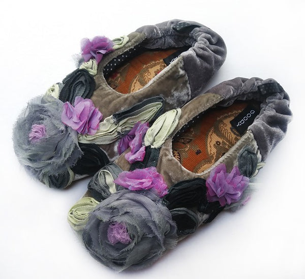 GOODY GOODY SLIPPERS: MILLEFLEUR GREY