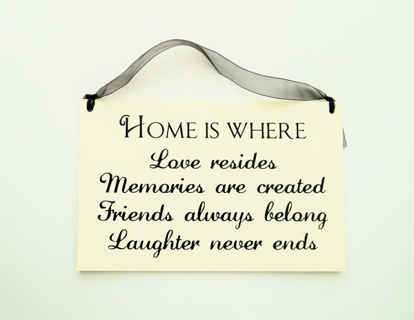 "FUNNY SIGNS: ""HOME IS WHERE..."""