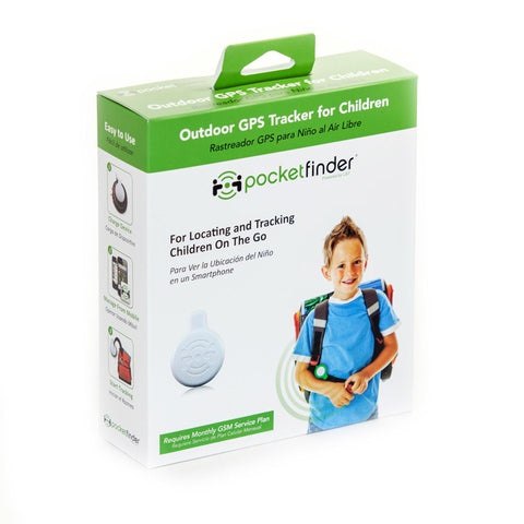 PocketFinder GPS Child Tracker, Compatible with iOS & Android for Locating and Monitoring Children or Pets