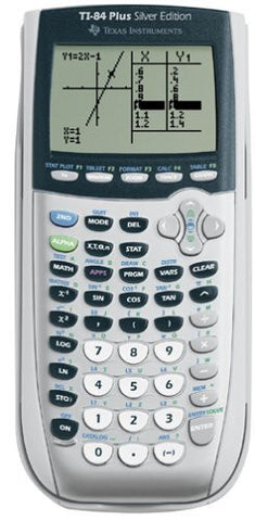 Texas Instruments TI-84 Plus Silver Edition Graphing Calculator, Silver