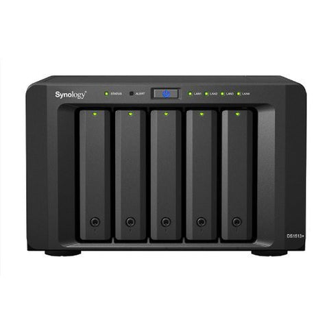 Synology DiskStation 5-Bay Diskless Network Attached Storage (NAS) with iSCSI/DS1513+ (DS1513+)
