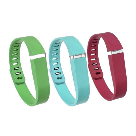 Fitbit Flex Wireless Wristband Activity Tracker - includes Red, Green & Turquoise Bands