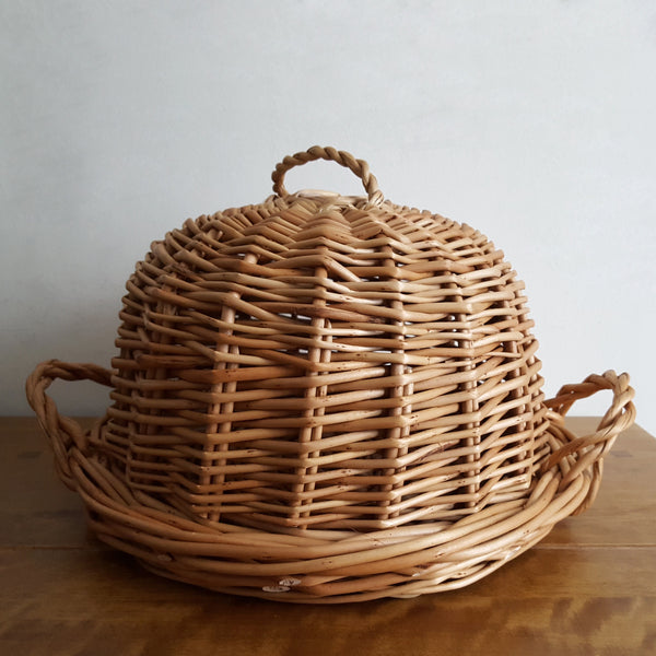 Wicker Cheese Cloches