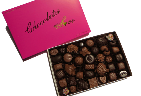 Chocolates with Love - Homemade Assorted Milk & Dark Chocolates - 20oz