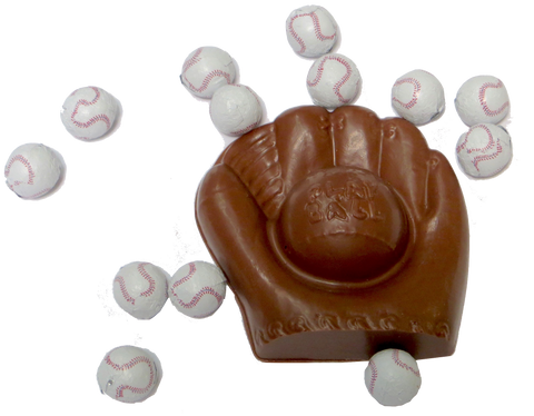 Chocolate Baseball Mit
