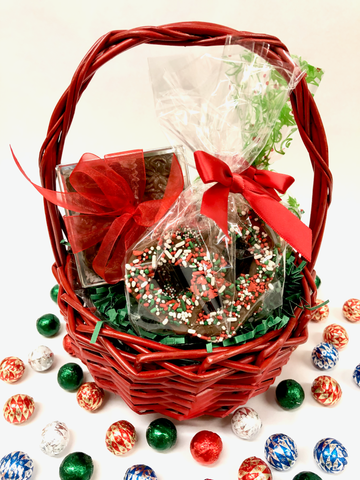 Small Holiday Basket- Corporate Gifts - Christmas Gifts