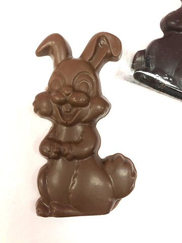 Flat Solid Chocolate Bunny