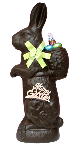 Homemade Dark Chocolate Herman Pack Rabbit (Easter)