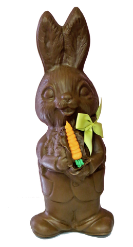 Homemade Chocolate Easter Bunny with Carrots