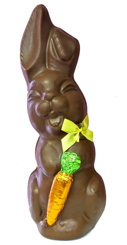 Homemade Chocolate Laughing Easter Bunny