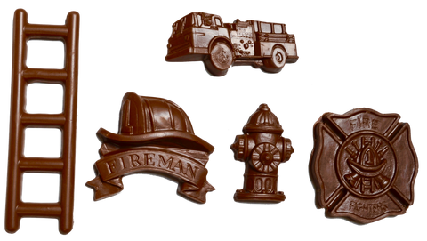 Homemade Chocolate Firemen Set