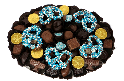 Hanukkah - Homemade Chocolate Platter