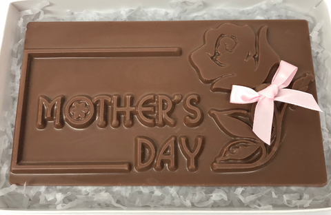 "Mother's Day - Chocolate ""Mothers Day"" Card with Bow"