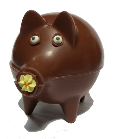 Homemade Chocolate Pig