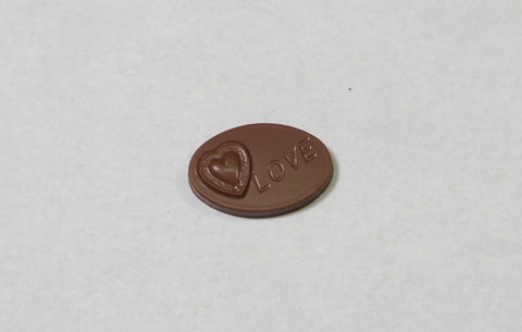 Love - Solid Chocolate Oval