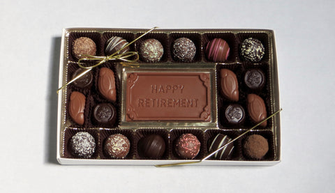 Retirement - Gift Box (Chocolate Bar, Solids and Truffles)