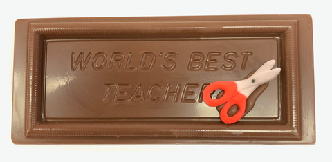 "Teacher -  ""Worlds Best Teacher"" Chocolate Bar"