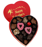 Homemade Chocolate Valentine's Day Heart - Assorted Nut Milk & Dark Chocolates