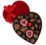 Homemade Chocolate Valentine's Day Velvet Heart - Assorted Milk Chocolates