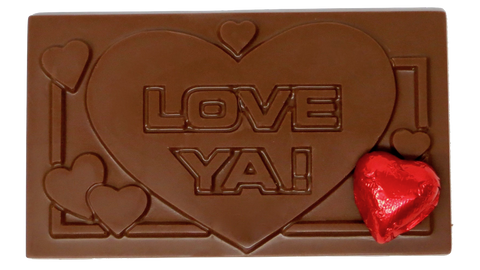 "Homemade Chocolate Valentine's Day ""Love Ya"" Card"