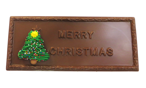 """Merry Christmas"" Homemade Milk or Dark Chocolate Bar"