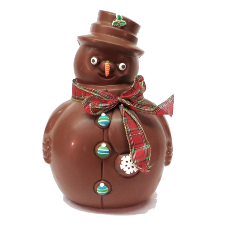 Homemade Chocolate Jumbo Snowman