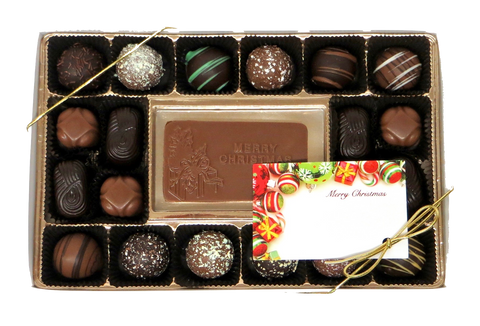 Homemade Chocolate Christmas Gift Box