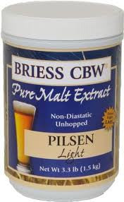 BRIESS PILSEN LIGHT LIQUID MALT CANISTER -  - BM - Rhone Brew Company