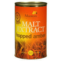 MUNTONS HOPPED AMBER LIQUID MALT EXTRACT -  - MM - Rhone Brew Company