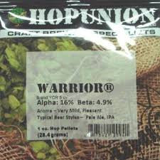 2094 US WARRIOR® HOP PELLETS - 2094A - 1 OZ. - PELLET HOPS - Rhone Brew Company