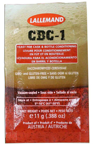 LALLEMAND CBC-1 CASK AND BOTTLE CONDITIONING YEAST - 2321 - 11 g - DRY - Rhone Brew Company