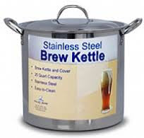 20 QT STAINLESS STEEL BREWING KETTLE -  - BEER EQUIPMENT - Rhone Brew Company