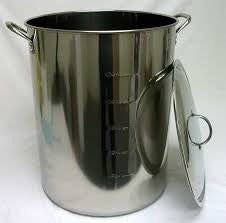 60 QT STAINLESS STEEL BREWING KETTLE -  - BEER EQUIPMENT - Rhone Brew Company