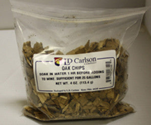AMERICAN OAK CHIPS - 6340A - 4 OZ. - OAK - Rhone Brew Company - 1