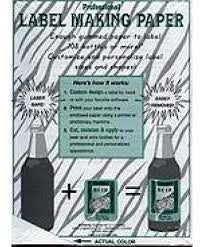 BOTTLE LABEL-MAKING PAPER - 4576 BLUE - General - Rhone Brew Company