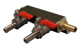 "2-WAY CO2 MANIFOLD WITH 5/16"" BARBS -  - BEER EQUIPMENT - Rhone Brew Company"