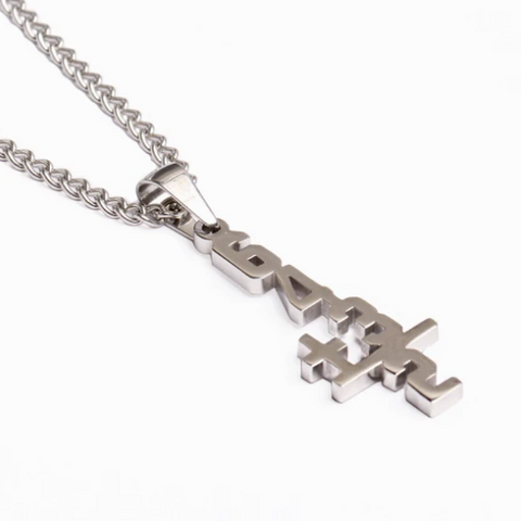 Stainless Double Play Necklace