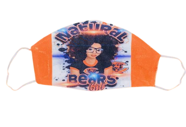 Face Accessories ~ Natural Bears Girl Face Mask