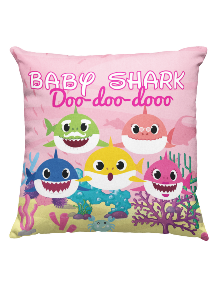 Learning Pillow ~ Baby Shark Inspired 18 x 18 Throw Pillow