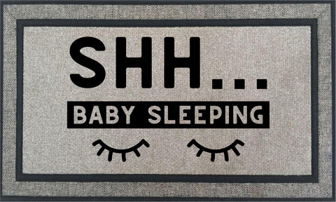 Door Mat ~Shh Baby Sleeping
