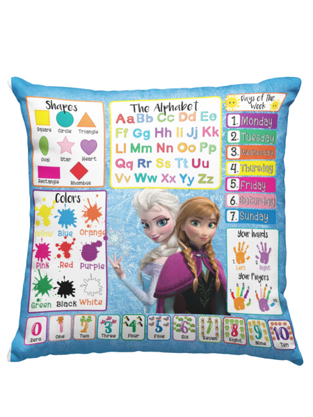 Learning Pillow ~ Frozen Inspired 18 x 18 Throw Pillow