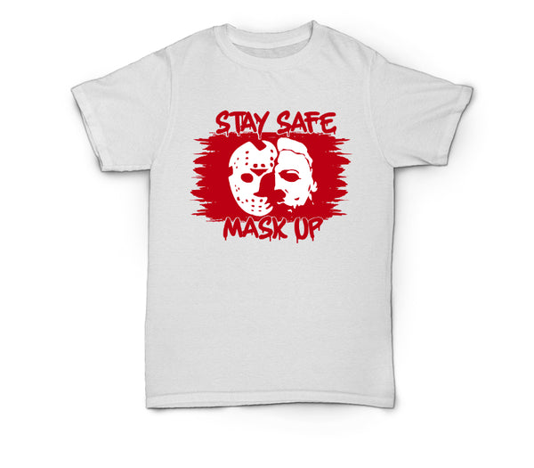 Scary Tee ~ Stay Safe Mask Up